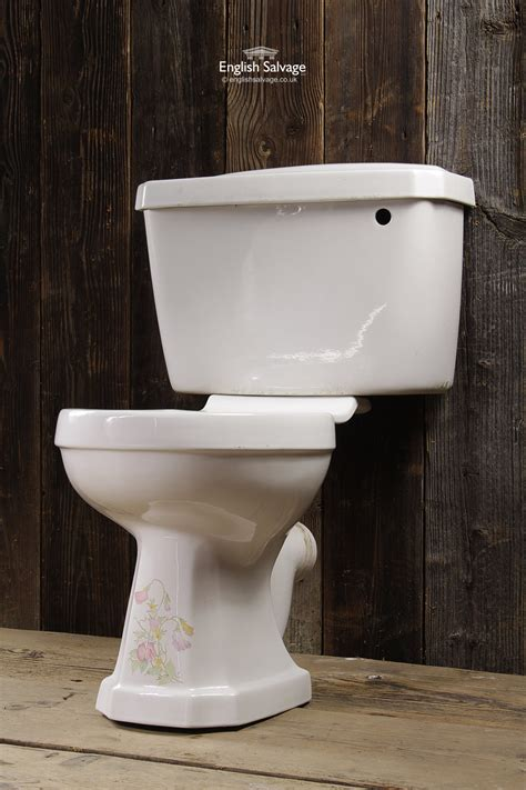 Close Coupled Floral Toilet and Cistern
