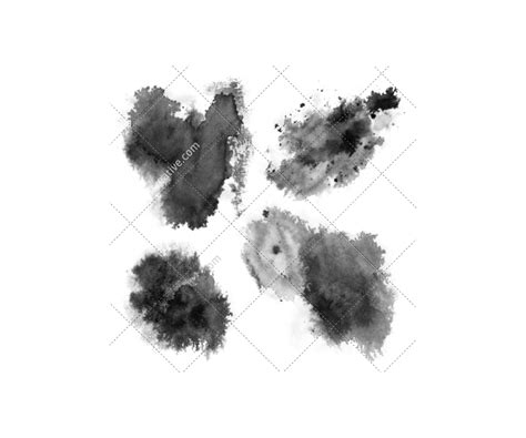 Ink brushes and stain brushes for photoshop - high