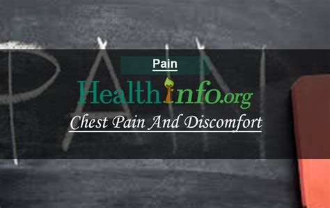 Chest Pain And Discomfort - Health-Info