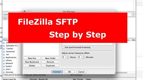 Using FileZilla Secure FTP or SFTP Connection - YouTube
