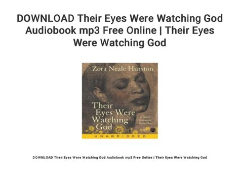 DOWNLOAD Their Eyes Were Watching God Audiobook mp3 Free
